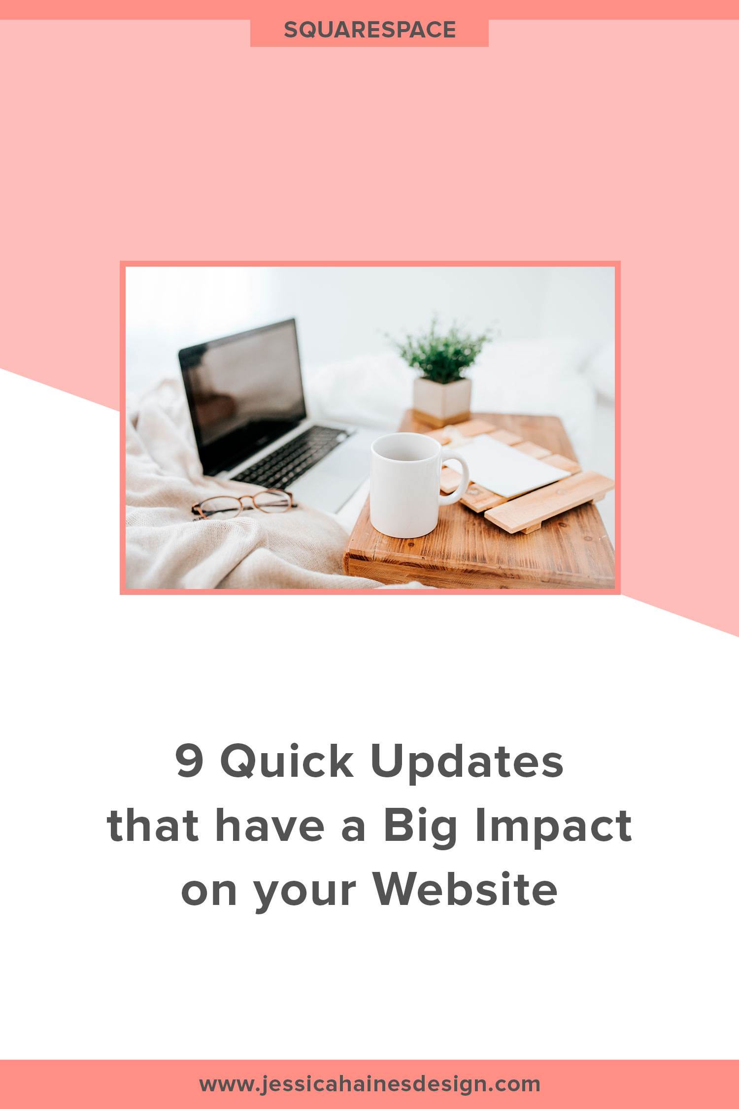 Our website has the potential to be a 24/7 sales person for our business. It should be beautiful and well-designed, but it should also work hard to get website visitors to take action, whether that is signing up for your email list, making a purchase or booking a call with you. These steps will help you make your website work harder for your business so you can really get the most out of it | www.jessicahainesdesign.com