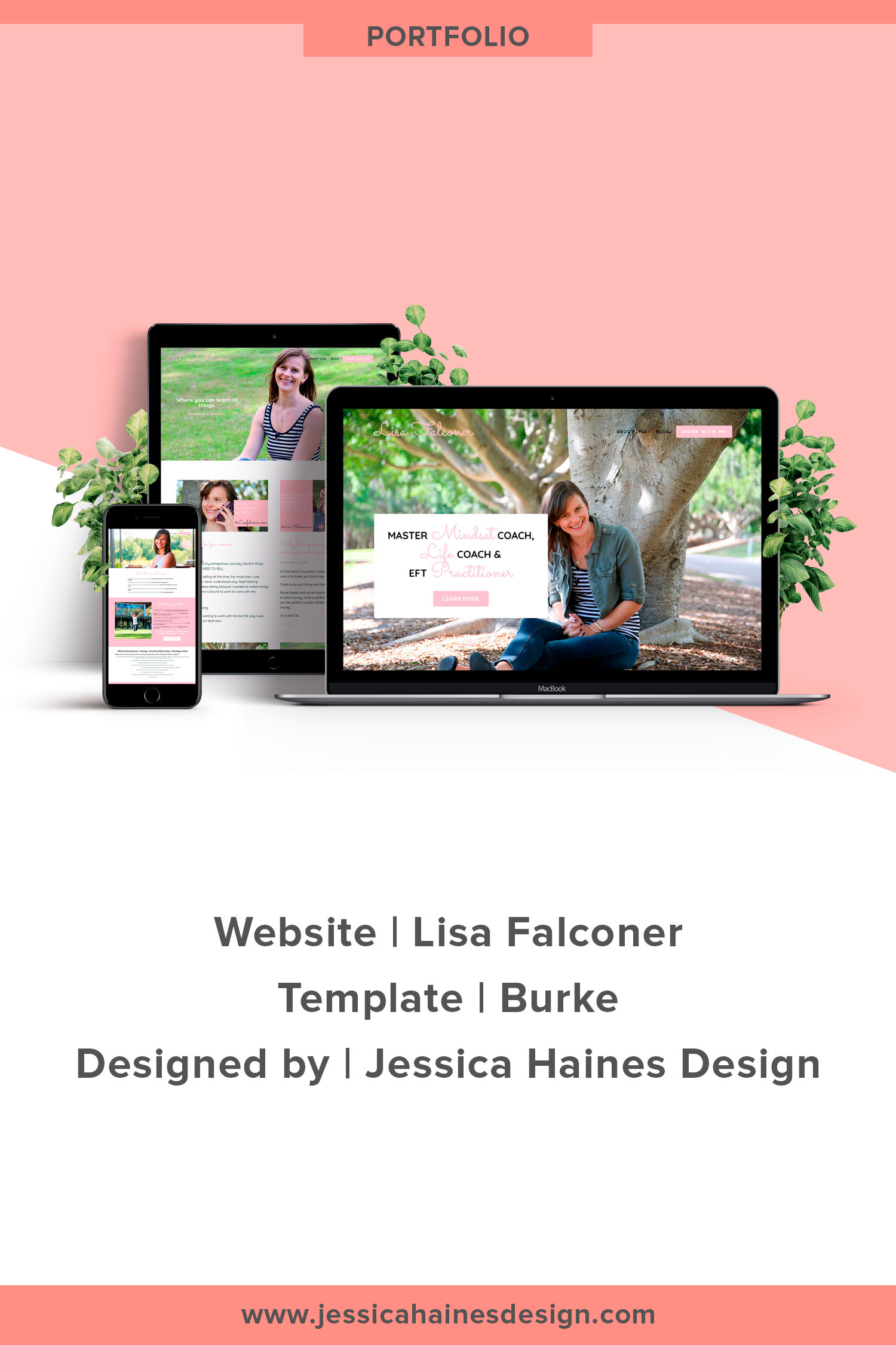 Lisa Falconer website custom designed by Jessica Haines Design. If you are ready to take your business to the next level with a website that looks good and makes you money, click through to see what you new website could look like! | www.jessicahainesdesign.com