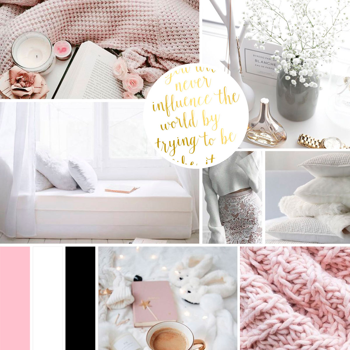 Lisa Falconer's mood board for her website. Custom designed by Jessica Haines Design. If you are ready to take your business to the next level with a website that looks good and makes you money, click through to see what you new website could look like! | www.jessicahainesdesign.com