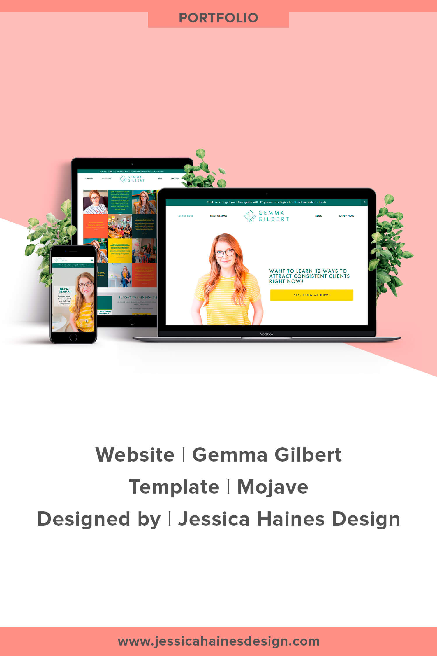 Gemma Gilbert is a business coach for mums in service-based businesses. When I first spoke with Gemma, she had DIY'd her website but wasn't in love with it and knew she needed a website revamp. She wanted something clean and simple that would help her grow her business, but didn't have the time to figure out how to get the website she wanted. Click through to see Gemma's new website and more about how it came together | www.jessicahainesdesign.com