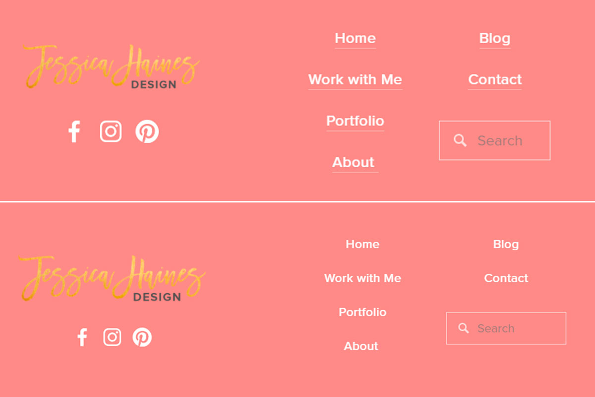 Removing the underline on links in the footer of your Squarespace website is easy with a little custom CSS. Click through for the code that you can copy and paste right away! | www.jessicahainesdesign.com