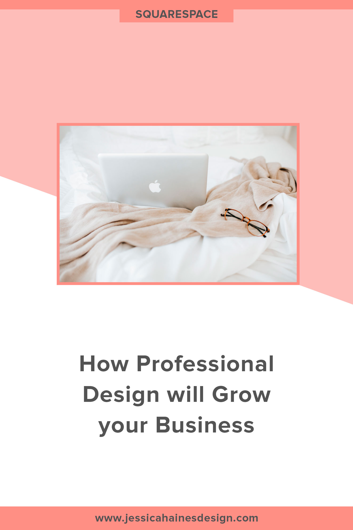Having a well designed brand and website that is aligned with your business and set up correctly is an investment that can be scary to make, but it's one that you will make back time and time again. Hiring a professional to take this off your hands can be scary, click through to find out how it can help you grow your business | www.jessicahainesdesign.com