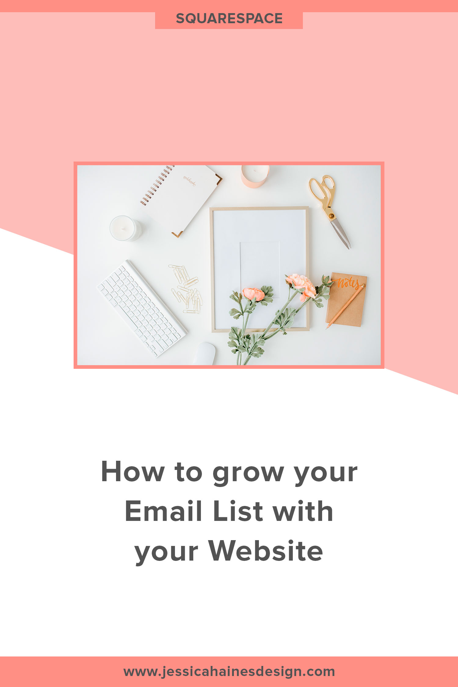 Only a small number of people are ready to buy when they land on your website. Instead of losing them to the internet never to be seen again, wouldn't it be nice if you could continue to build trust and be top of mind for them so when they are ready to buy, you are the obvious choice? Growing an email list can help you with that, and this post will show how you can use your website to grow your list | www.jessicahainesdesign.com