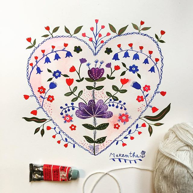 We are working on a new collection in our studio and it's exciting ! 😊💖✨🎨 #illustration #illustratorsoninstagram #paint #painted #watercolour #watercolorpainting #floral #florals #flower #love #heart #wedding #weddingcard #babycard #valentinesday #stationery #paper #paperlove #retailer #shop #stockist #marenthe #popje