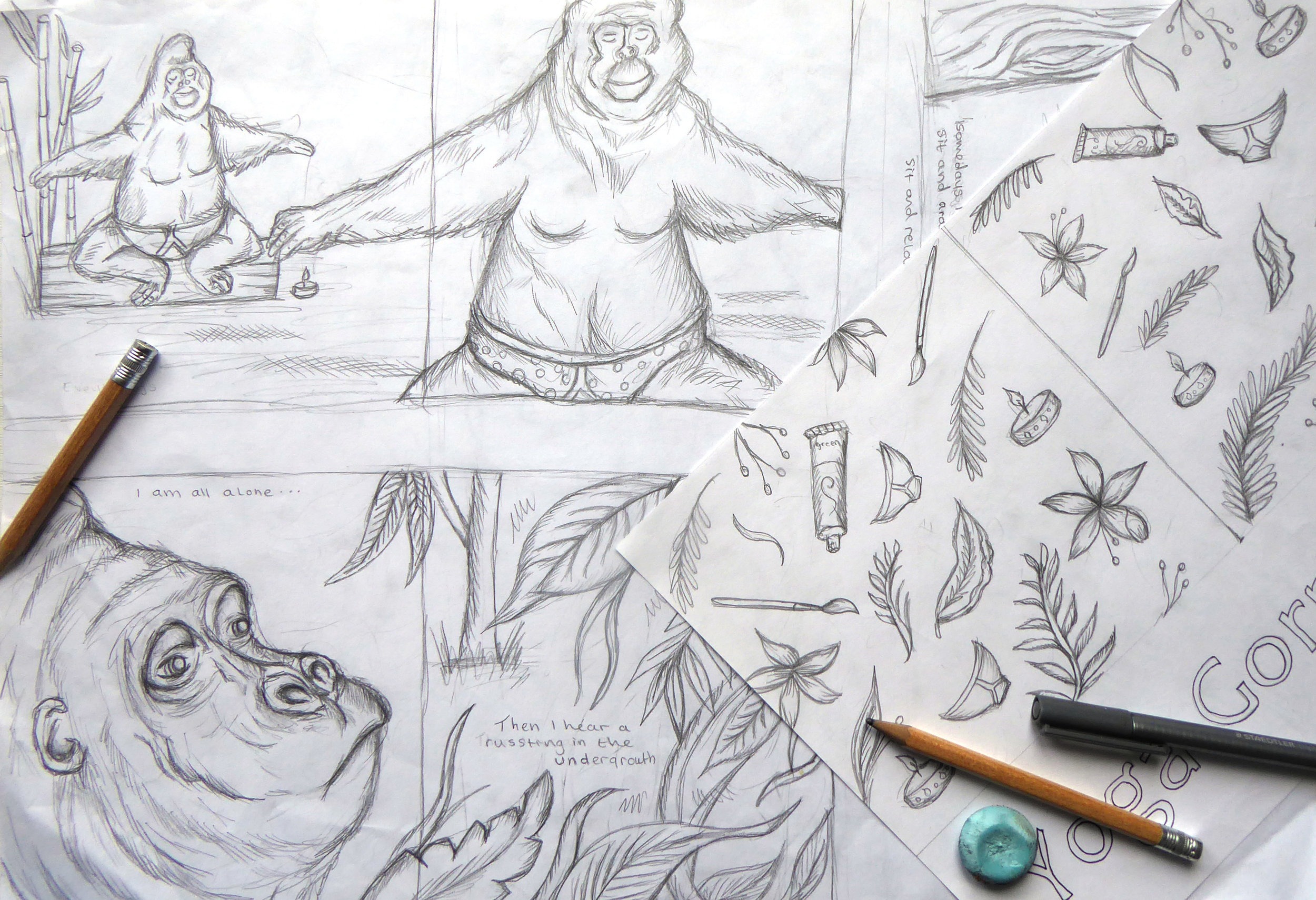 Storyboarding- more worked up pages