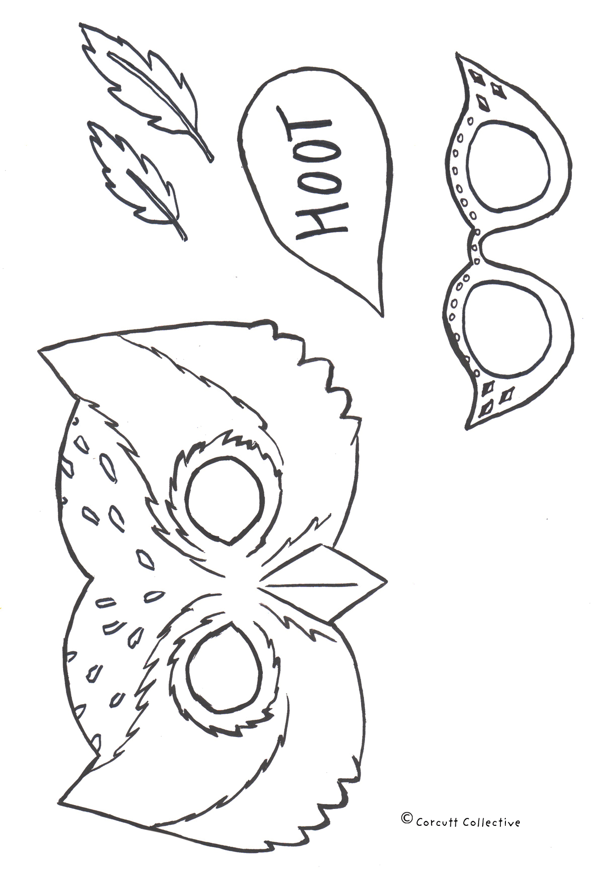 This is an image of Printable Feather Cut Outs intended for drawn