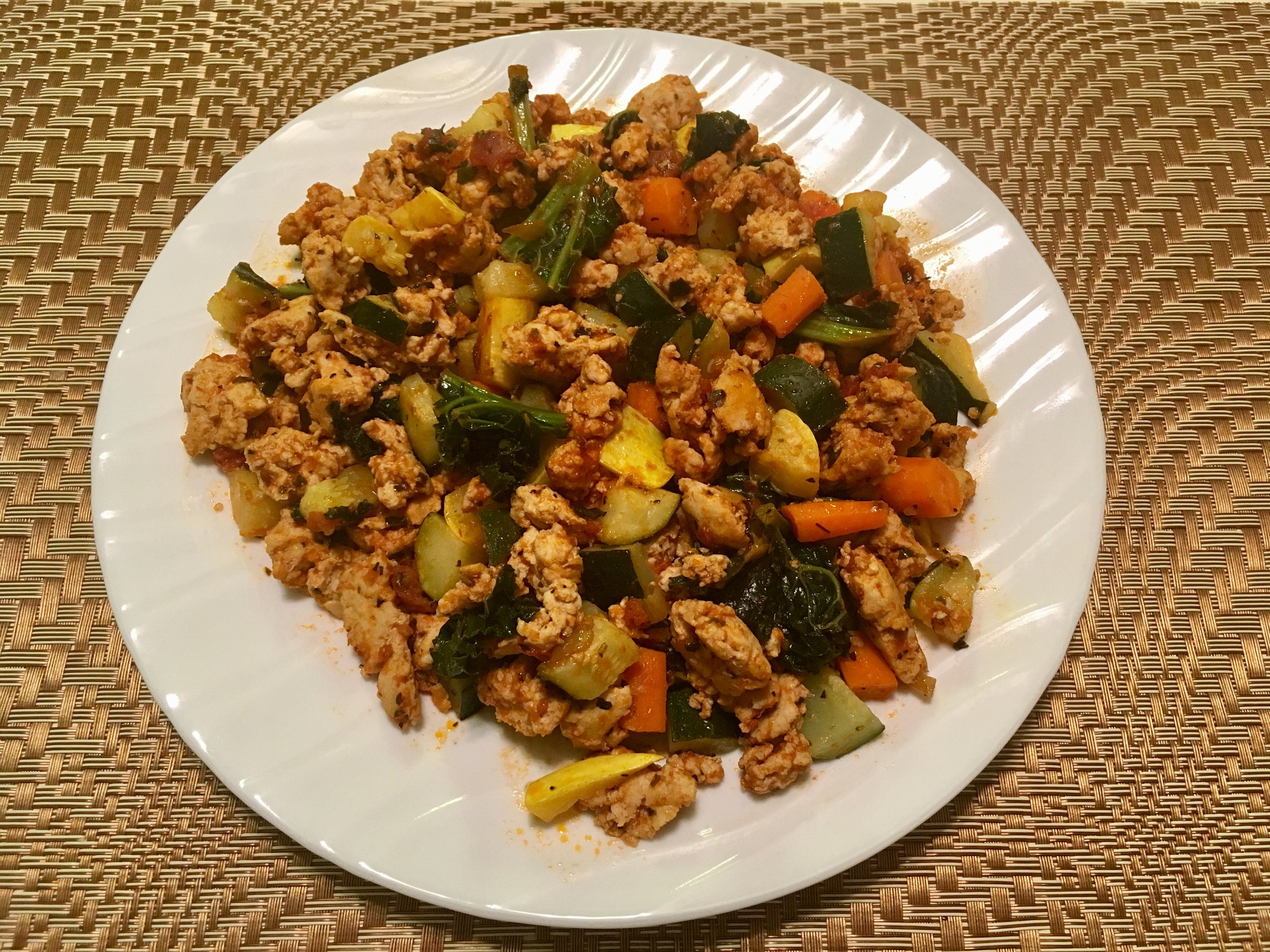 Ground Turkey Veggie Skillet