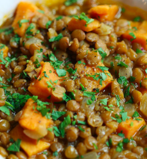 Lentil Sweet Potato Carrot Stew