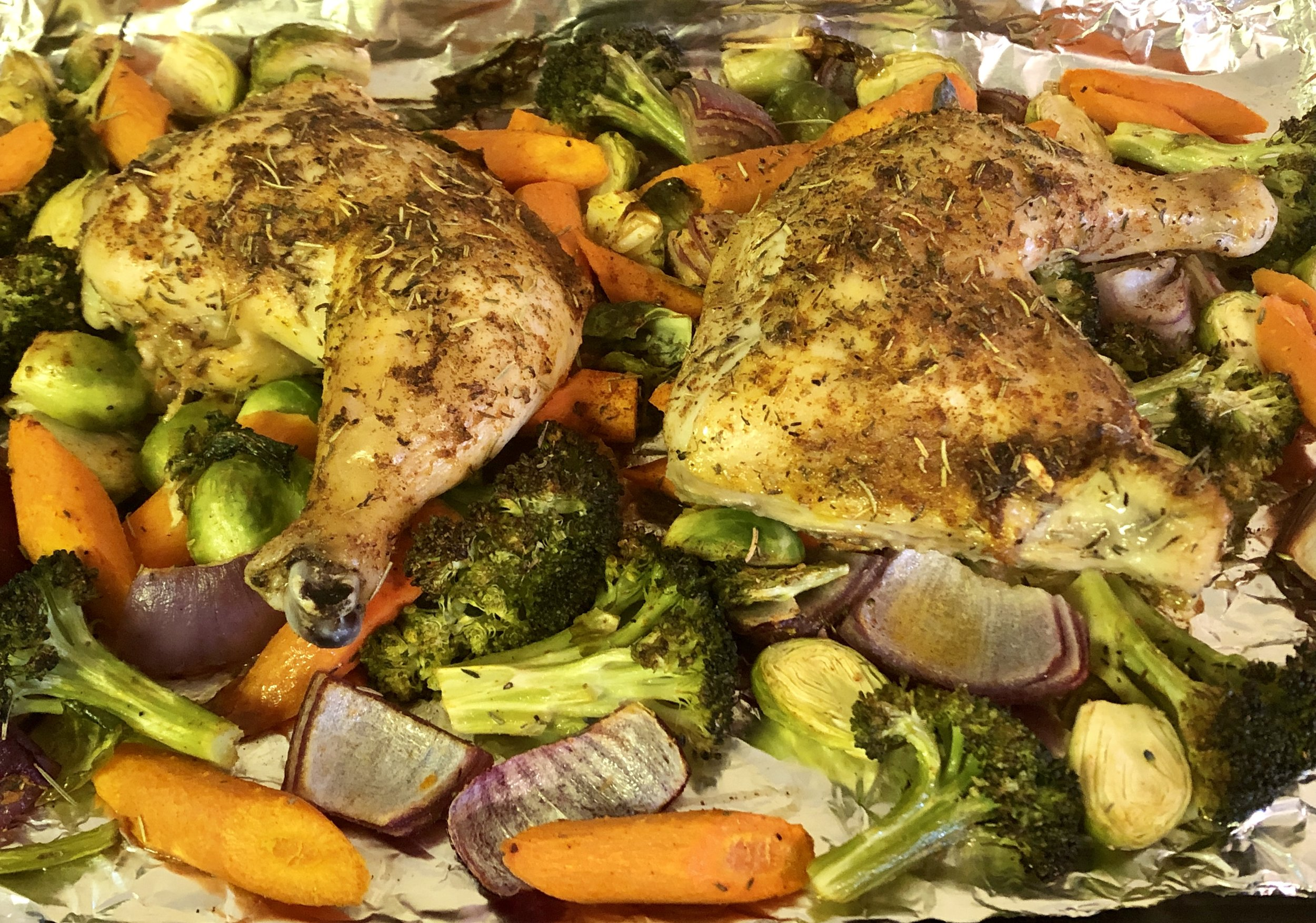 Veggie Sheet Pan Chicken