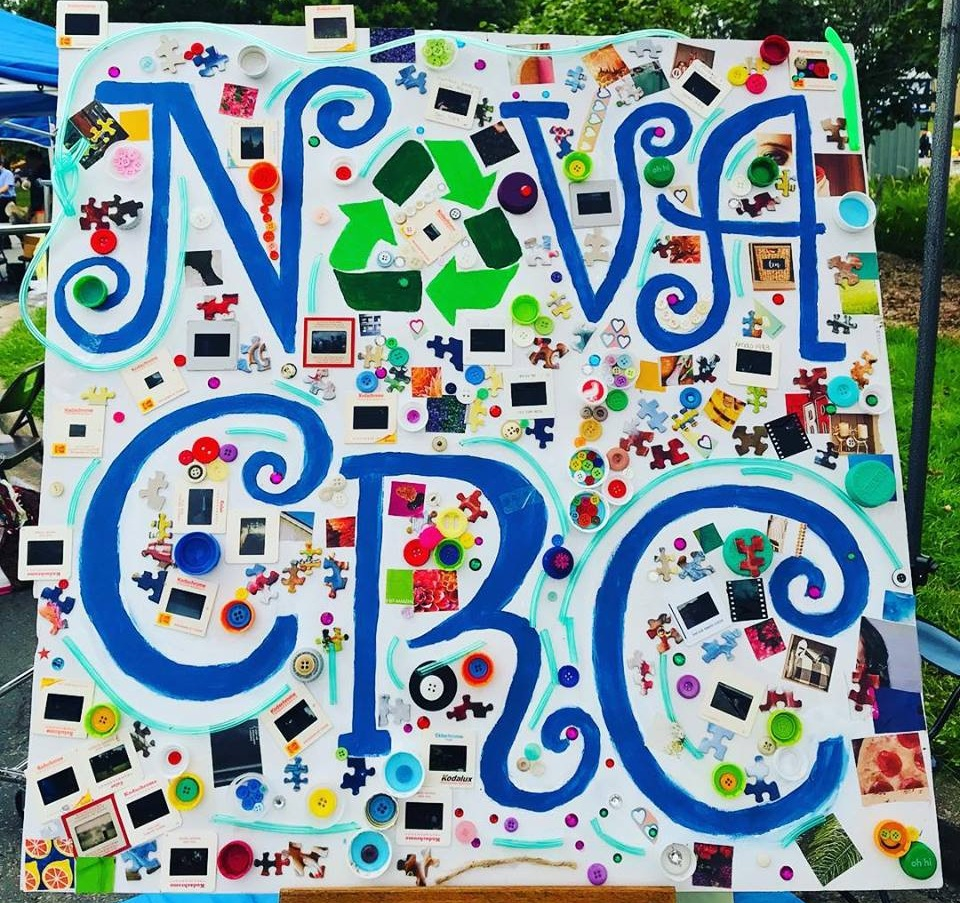 Our Roots - NOVA Creative Reuse Center, Inc. was Founded in 2018 by our Director Jess Griffin, a Maryland native who transplanted to Virginia in 2012.Jess spent much of 2018 introducing the idea of reuse and NOVA CRC to the community. Check out the logo that NOVA residents helped to decorate at the 2018 Sterlingfest!