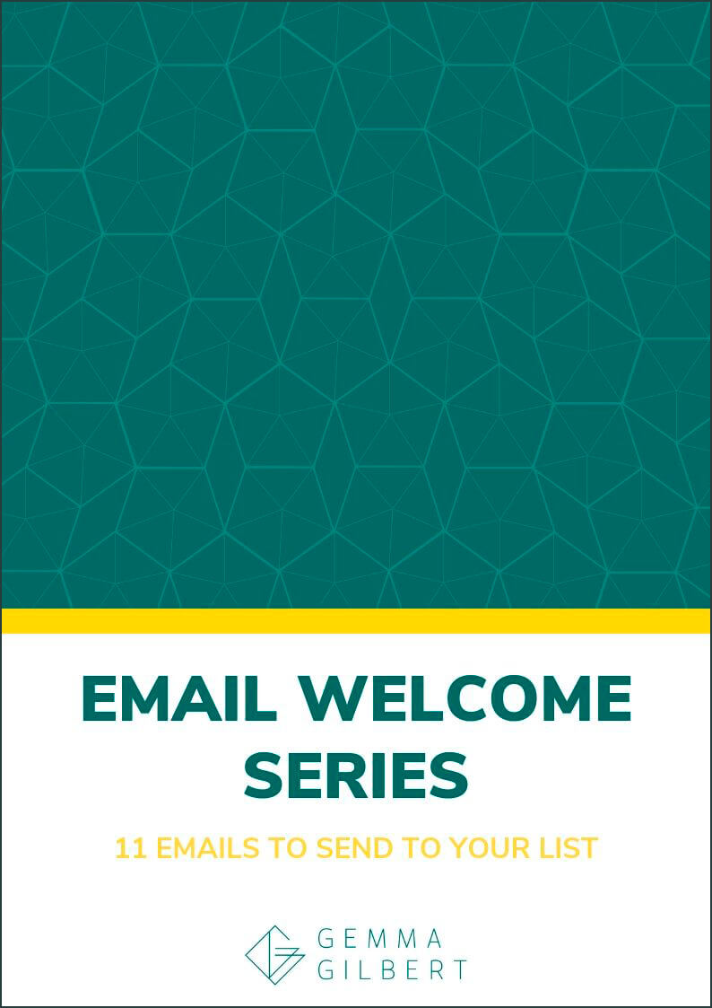 Not sure what to send to your email list? Download my free email welcome series cheat sheet to create an 11 part email series that will turn new subscribers into paying clients