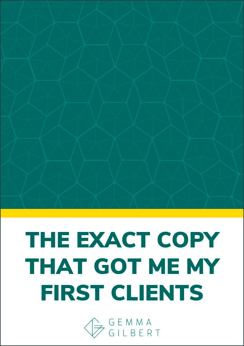 Want 3 tried and tested templates to help you land your first clients? Steal this template for my exact copy that got me my first 5 clients