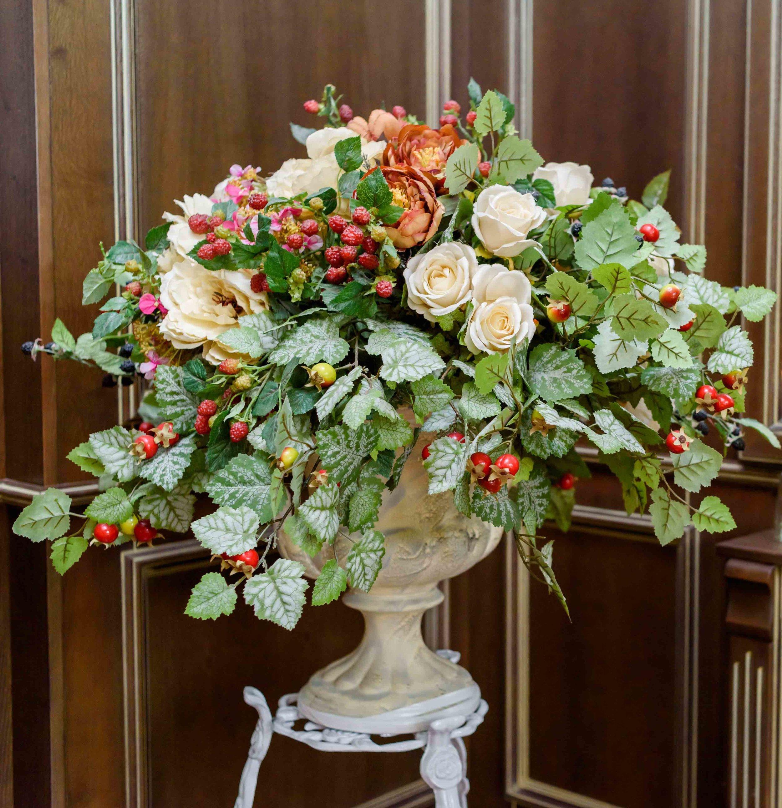 Office Artificial Flower Arrangements For Hire London Office Flowers London