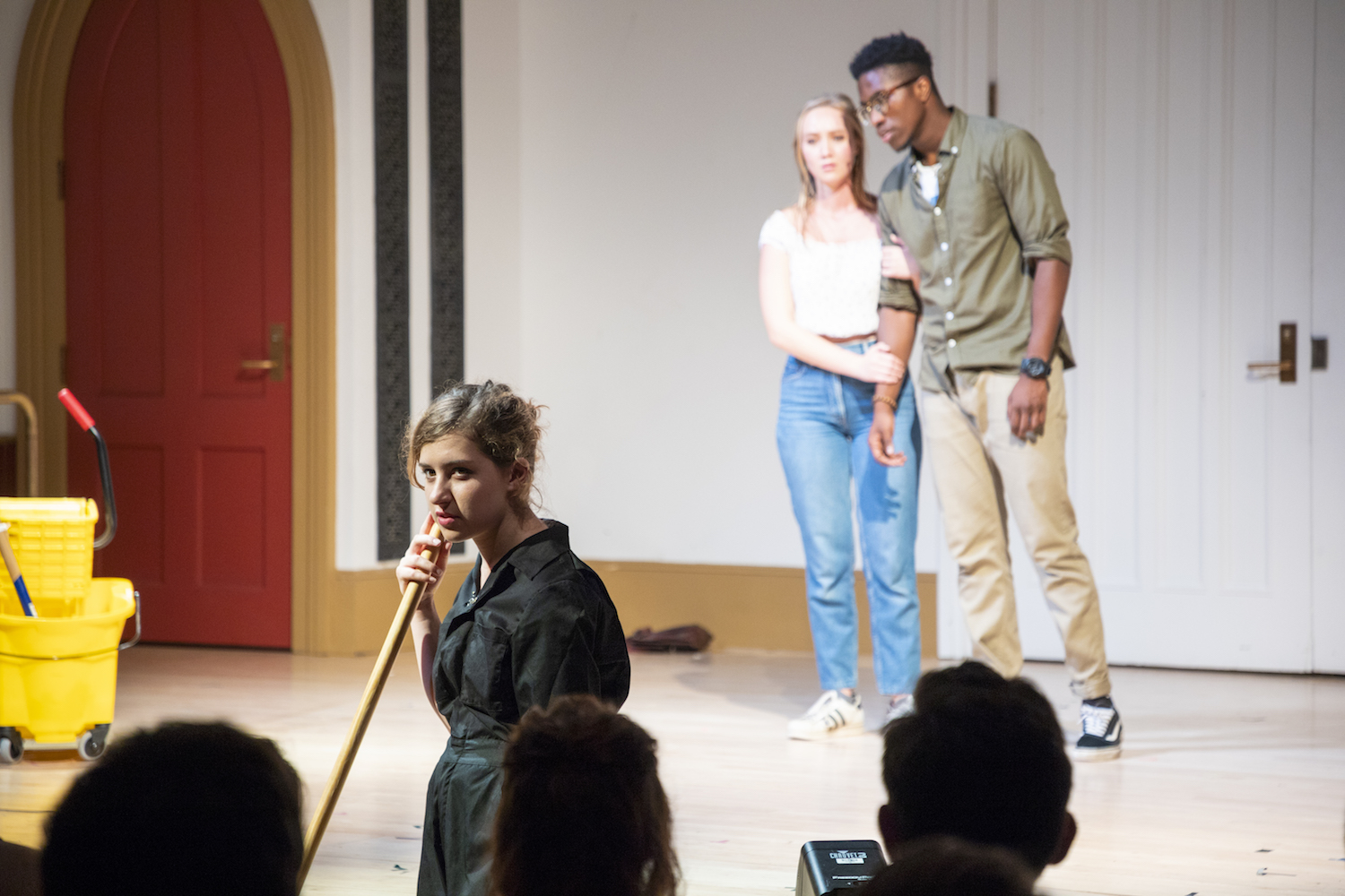 Emma Meyerson, Jaques Mattellus, and Melina Young in LOST AND FOUND. Photo by Joseph O'Malley.