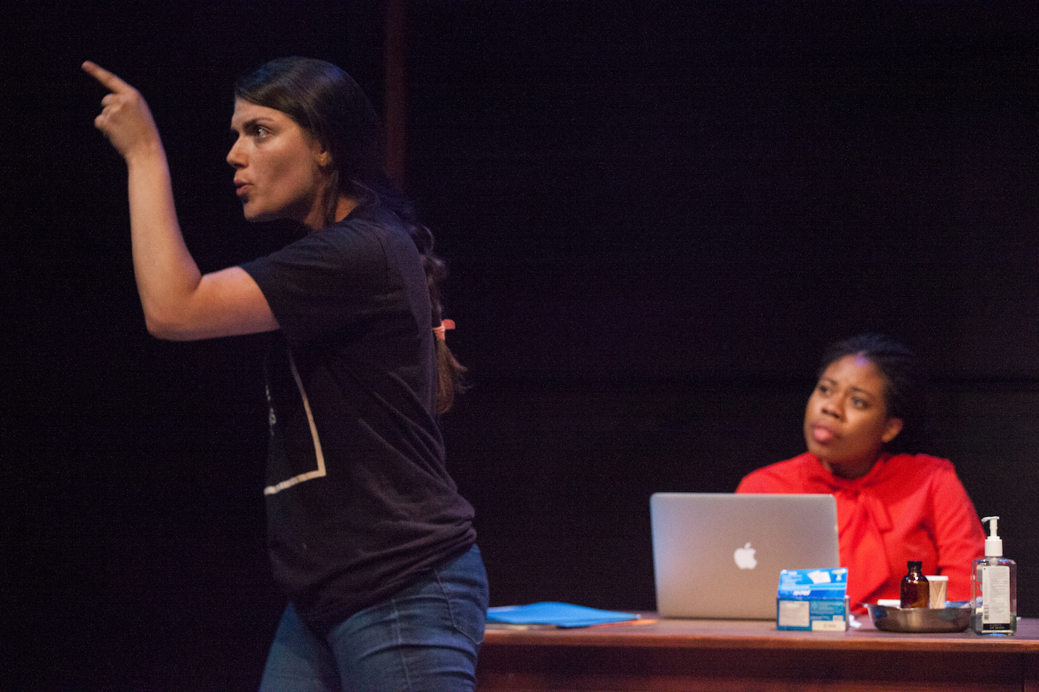 Sarah Rossman and Kate Odolukwe in WHAT THE MARKET WILL BEAR. Photo by Carolyn Brown.