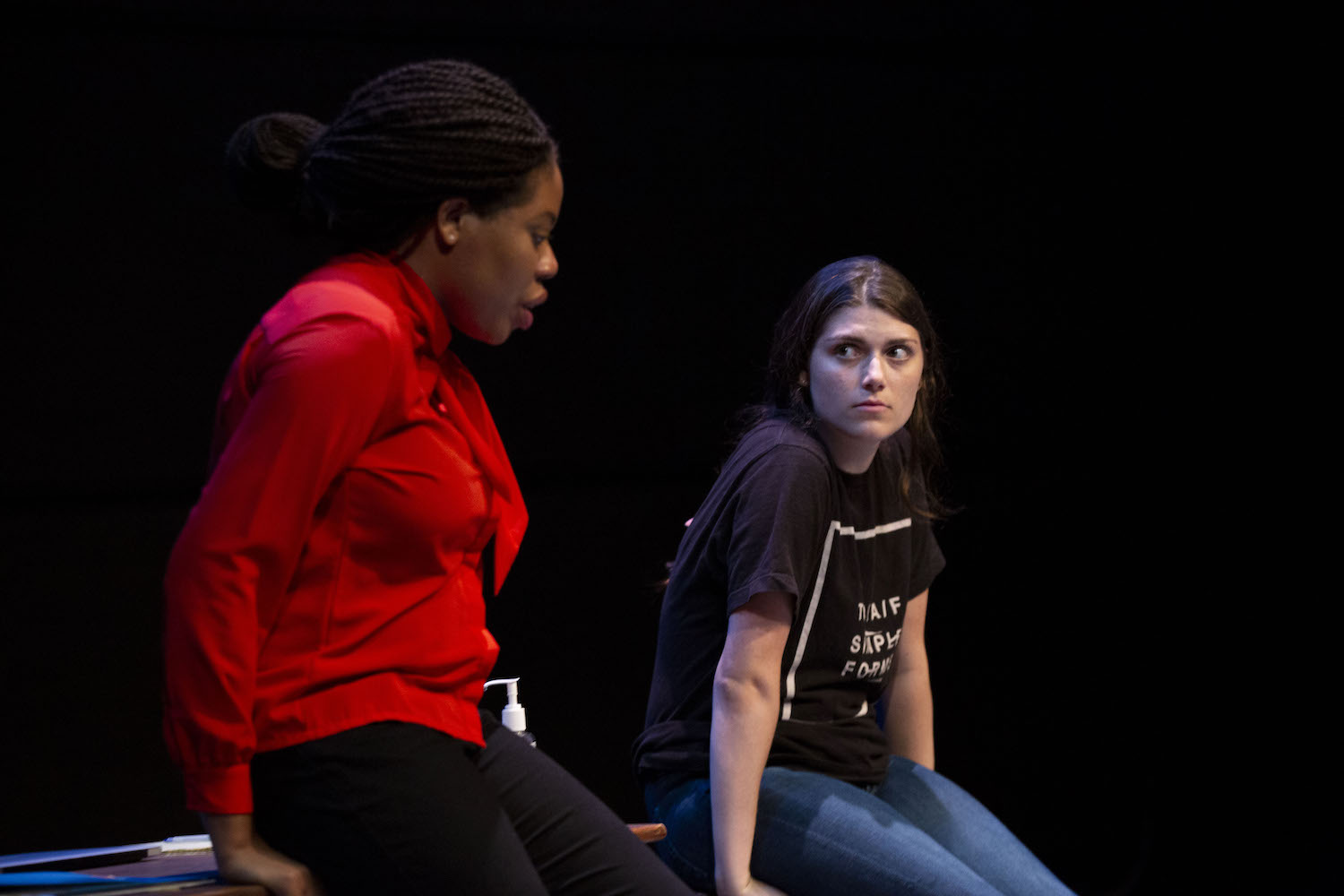 Kate Odolukwe and Sarah Rossman in WHAT THE MARKET WILL BEAR. Photo by Carolyn Brown.
