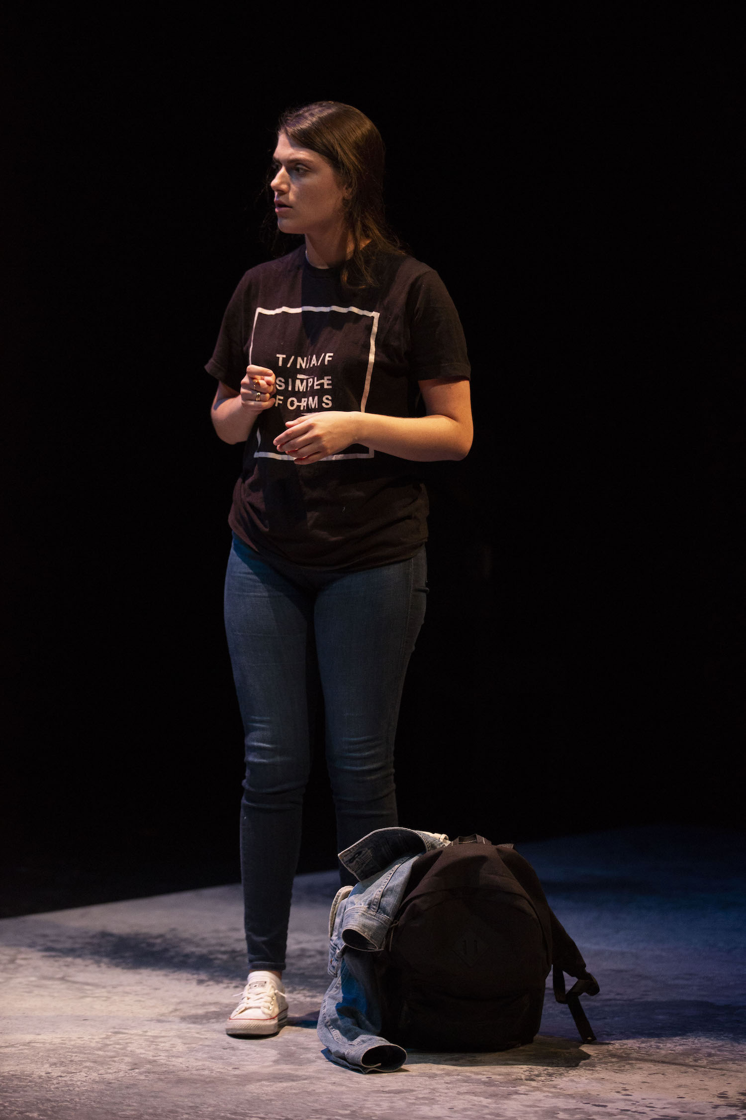 Sarah Rossman in WHAT THE MARKET WILL BEAR. Photo by Carolyn Brown.
