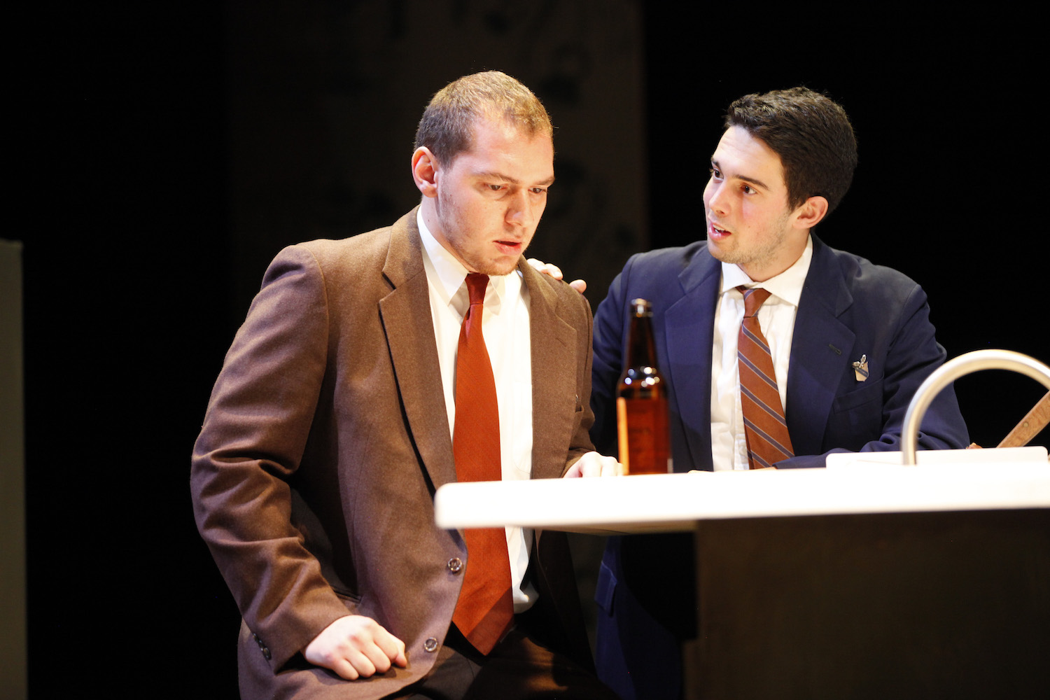 Jason Theoharis and Matthew Hoisch in MACBETH. Photo by Mark Lovett.