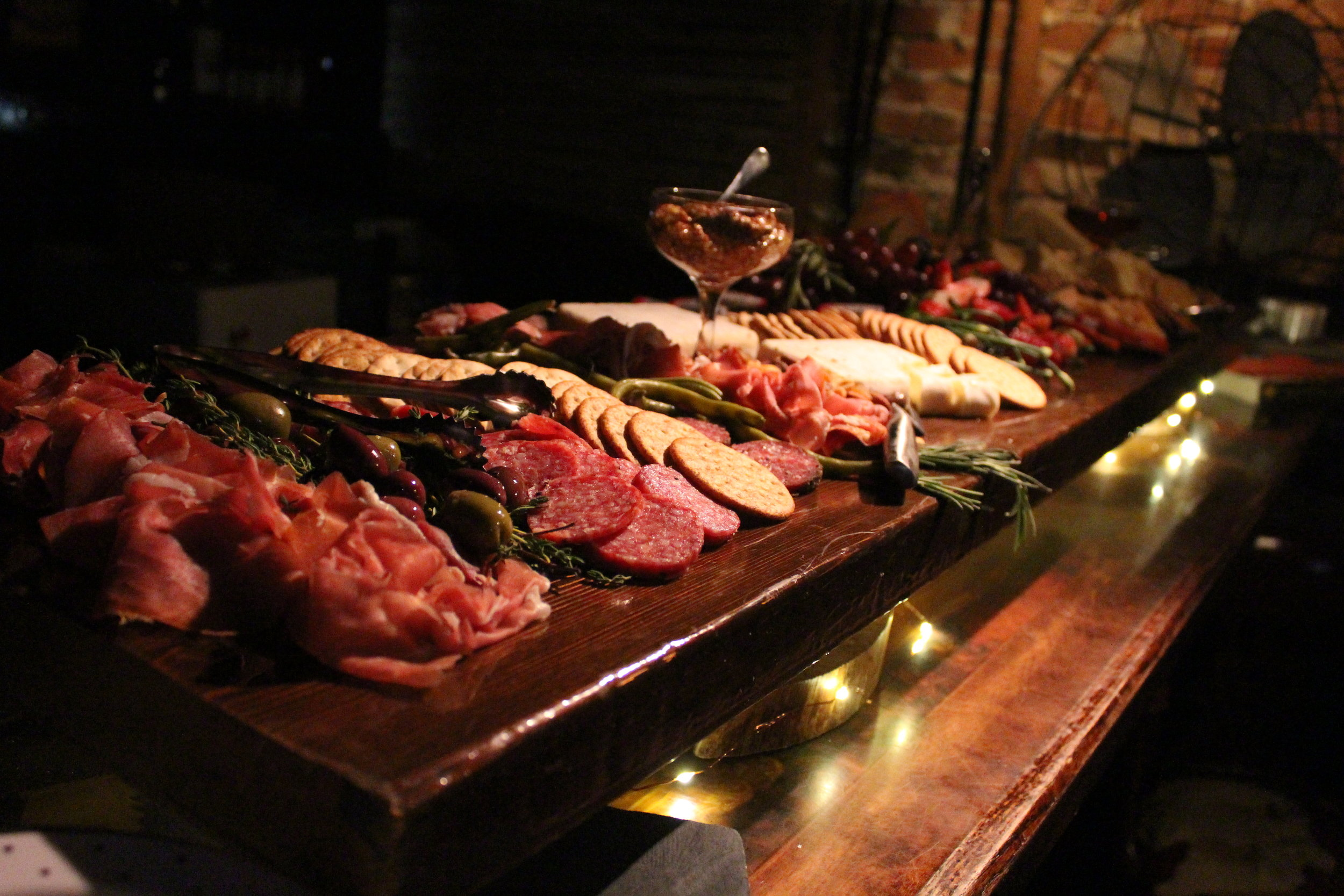 Charcuterie Board for Private Event inside a historic building