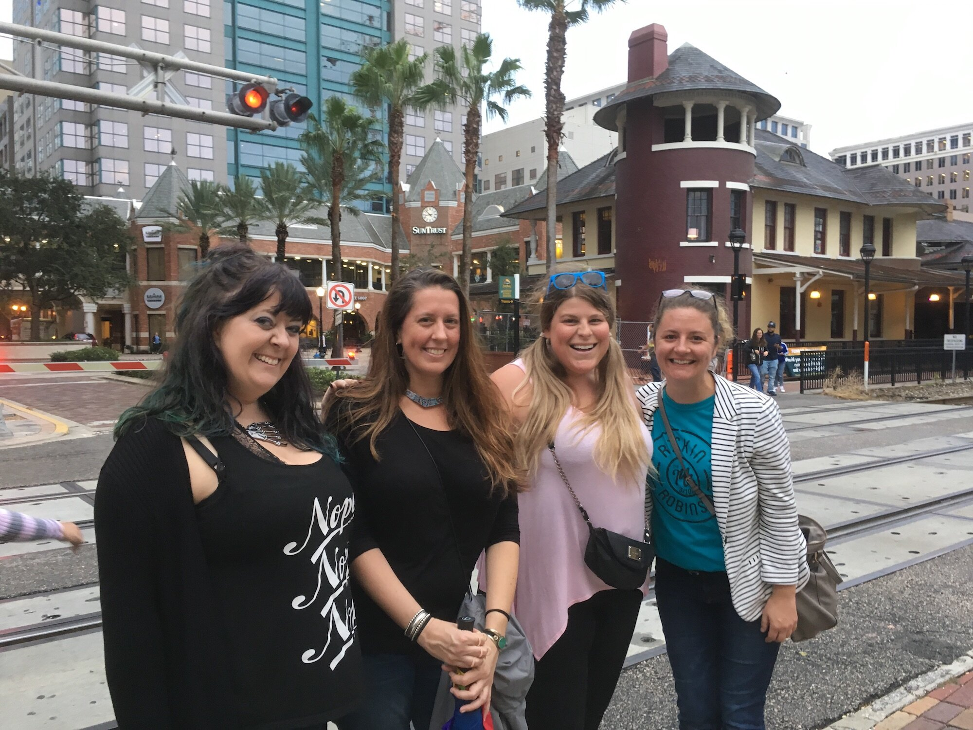 Tour guests on the Historic Downtown Orlando Walking Tour