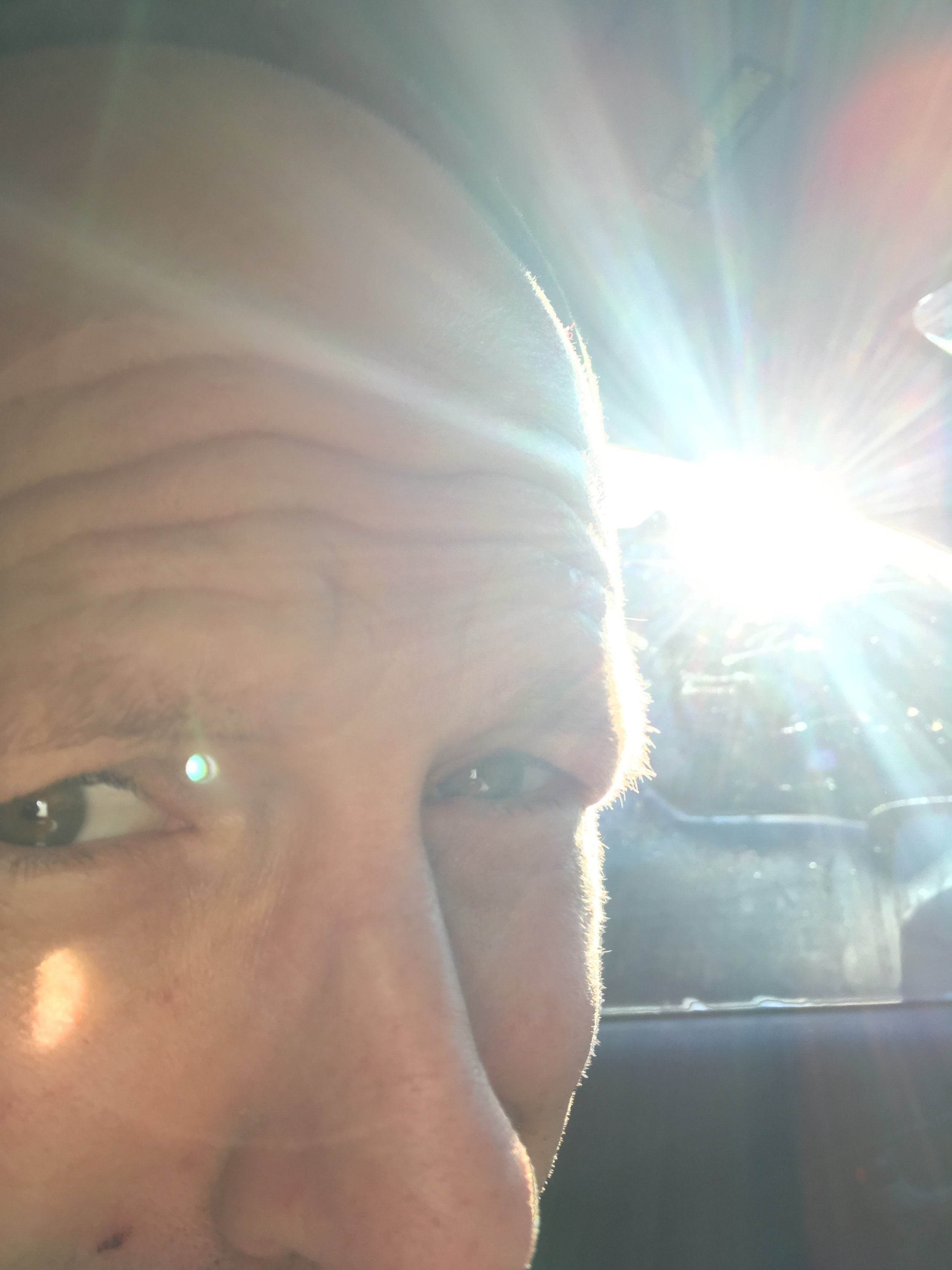 Photo by my daughter. She specializes in extreme close-ups of the dog, and now of me.