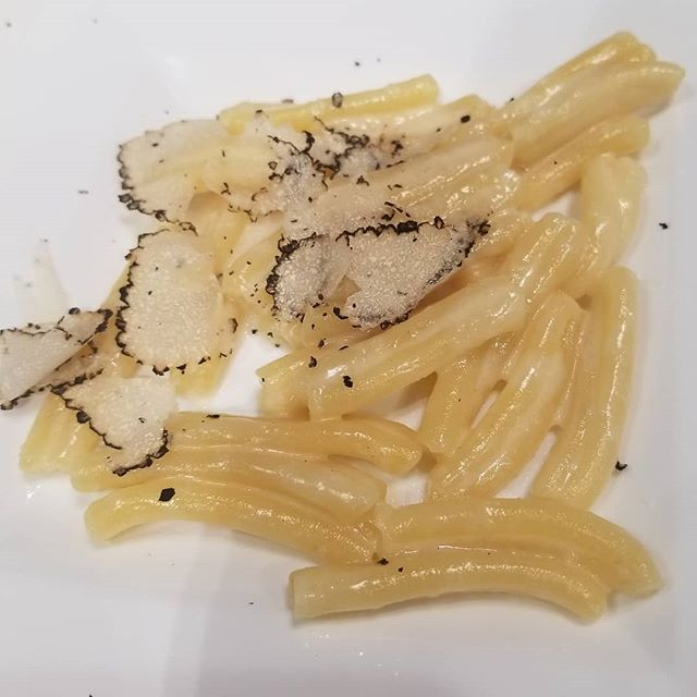 Pasta with Fresh Black Truffle from Italy!!!