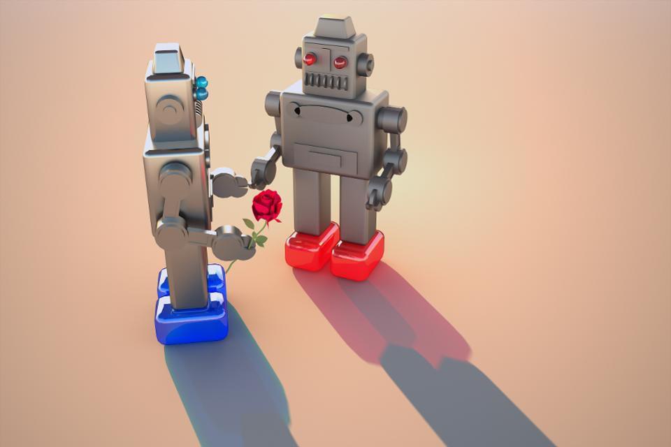 Robot Love.  Getty