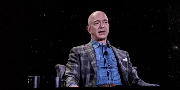 Above: Amazon and Blue Origin CEO Jeff Bezos at the Amazon re:Mars conference in Las Vegas  Image Credit: Khari Johnson / VentureBeat