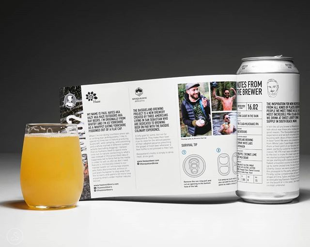 Hoppy Monday! I love these double labels they do over at @northernmonk, and have always enjoyed what beers I've had from the Patrons series. This piña colada inspired milkshake IPA is brewed with/inspired by @basquelandbrew and @hazeoutdoors. Getting Caught In The Rain is pretty to the point, with a strong pineapple and coconut note wrapped in a creamy body. The tropical flavors are further accentuated by hops like Sabro. The informative label even included a beer related survival tip, neat!