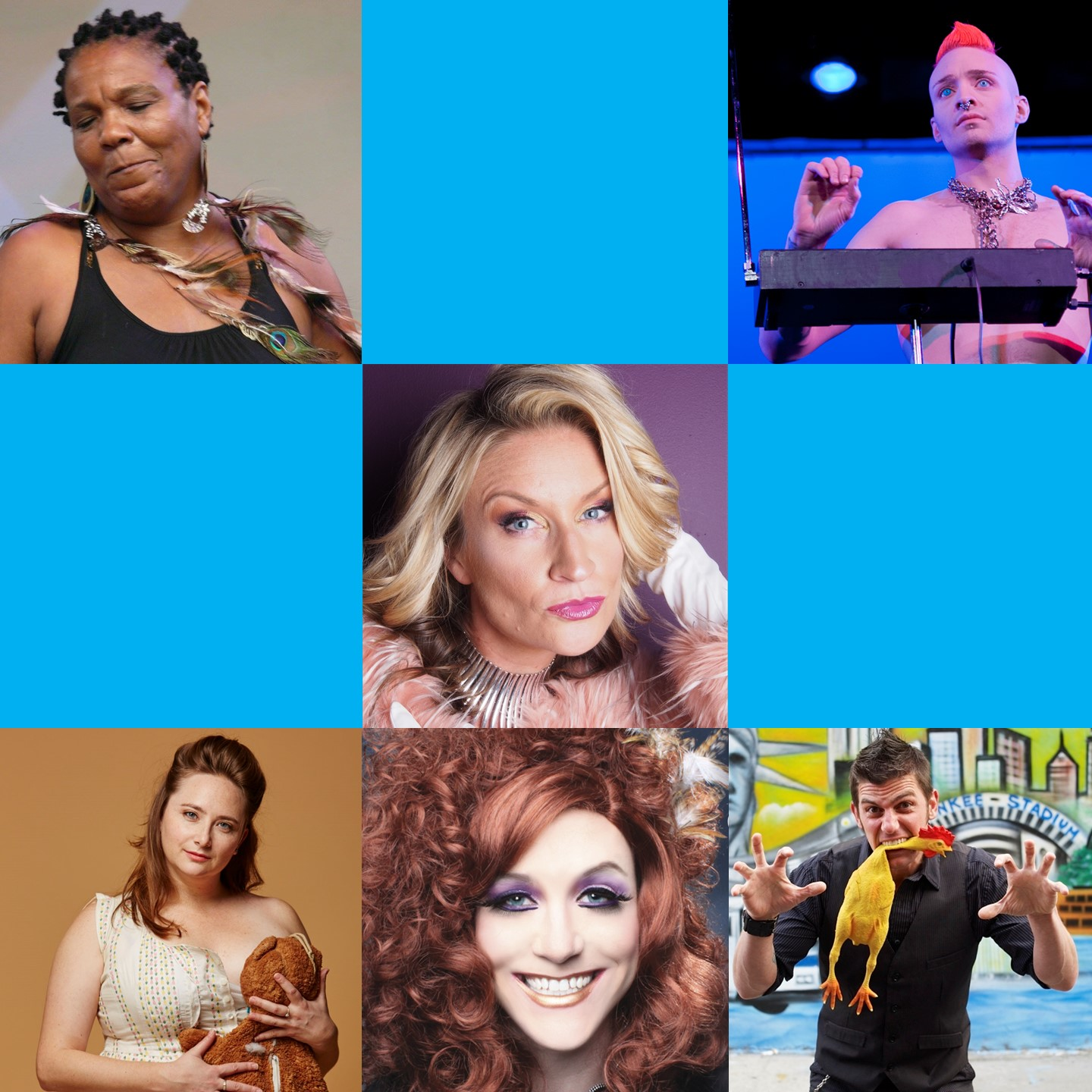 April 13 & 14, 2018   Hosted by Selena Coppock  FEATURING: Felice Rosser (Motown meets King Tubby) Magic Brian (Off-beat Comedy Magic) Katie Hartman (Irreverent Character Comedy) Cornelius Loy (Theremin Virtuoso) Miss Mona Mour (Drag Superstar)