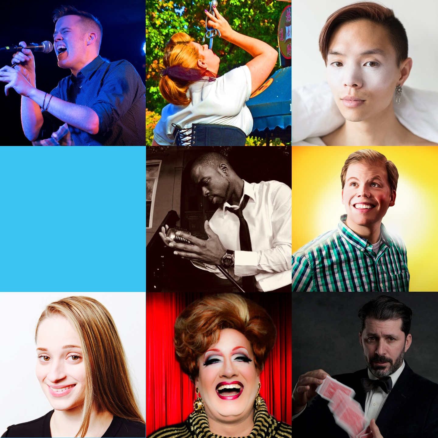 November 16 & 17, 2018   Hosted by:  November 16 -  Jeff Hiller  November 17 -  Dave Lester  FEATURING: Goldenchild (Cosmic Country) Vodka Stinger (Brassy Drag Cabaret) Jon Wan (Queer Comedy) The Great Dubini (Wry Up-Close Magic) Kit Kat (Flexn Dance) The Lady Aye (Sideshow Marvels)