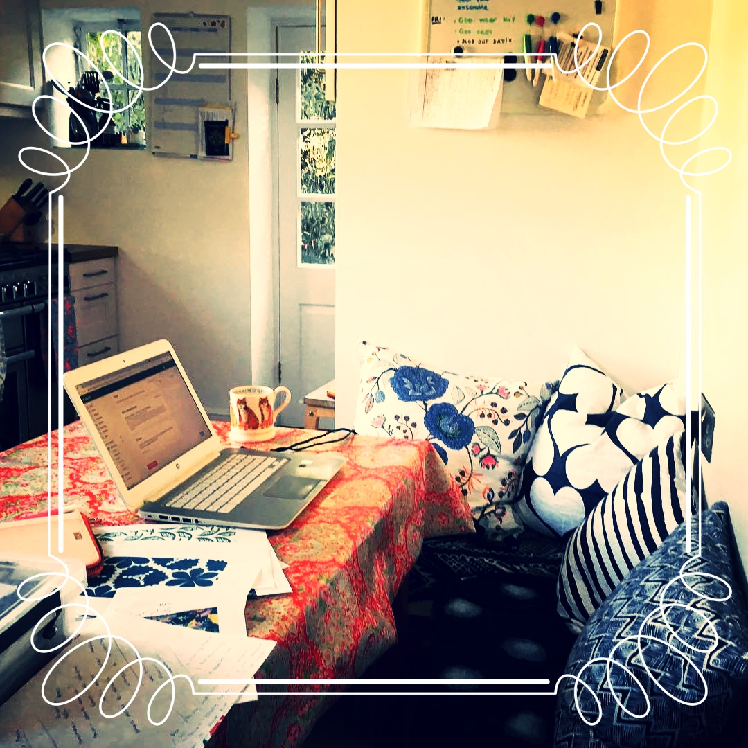 Kate's pretty kitchen, where the magic takes place. And the tea