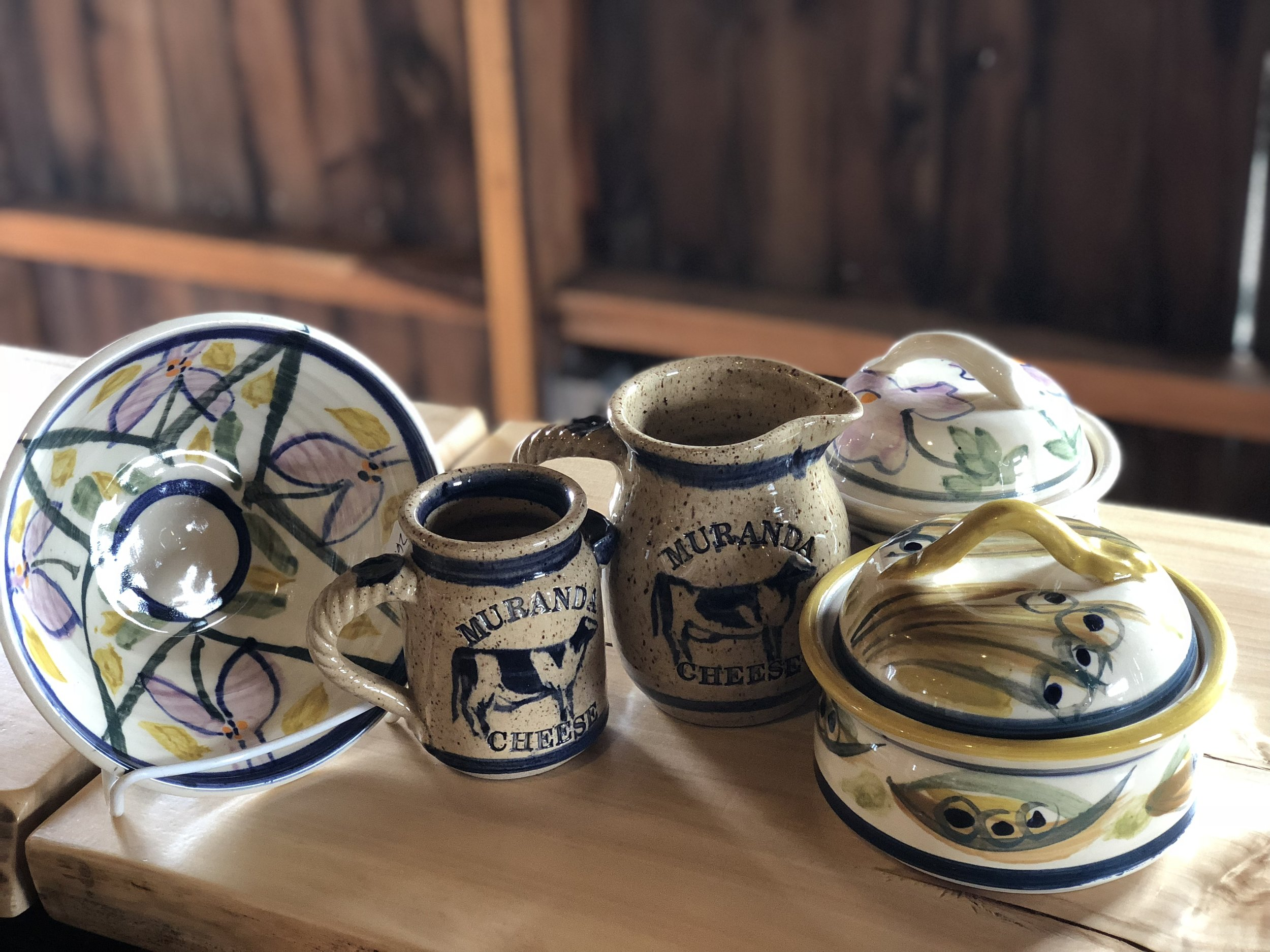 Locally made pottery