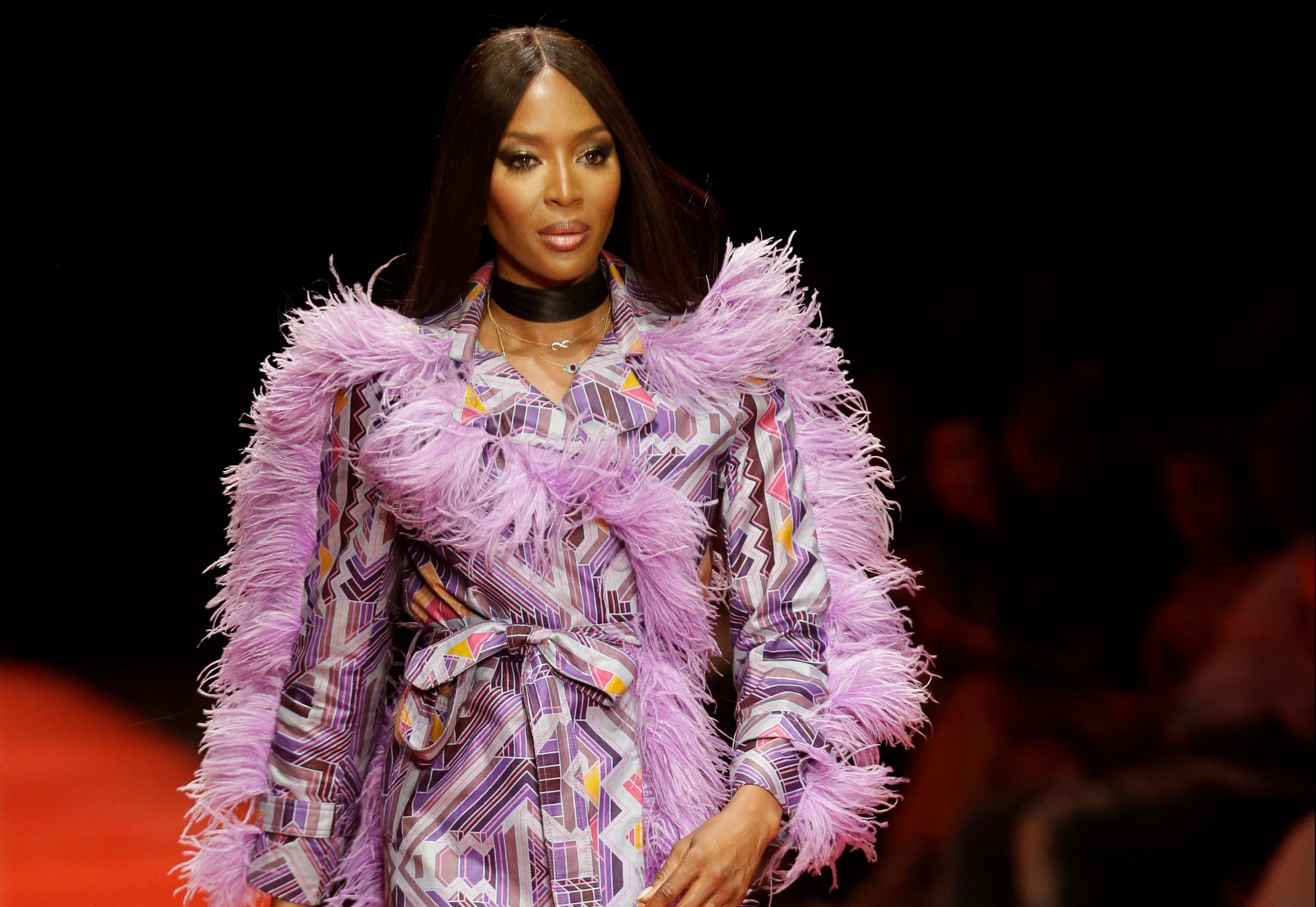Naomi Campbell appearing at Arise Fashion Week, photo courtesy of WWD