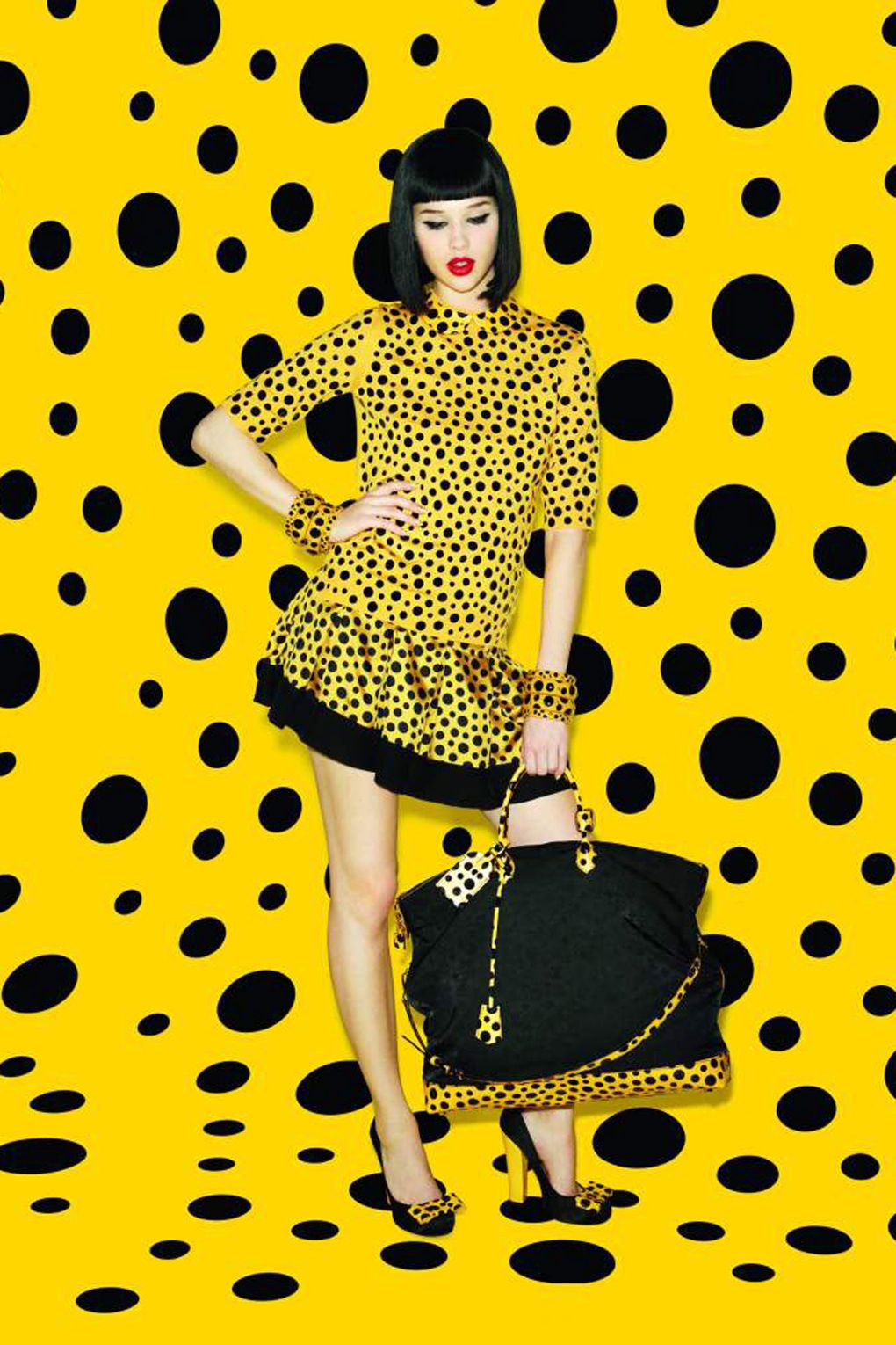 Vuitton And Kusama via British Vogue