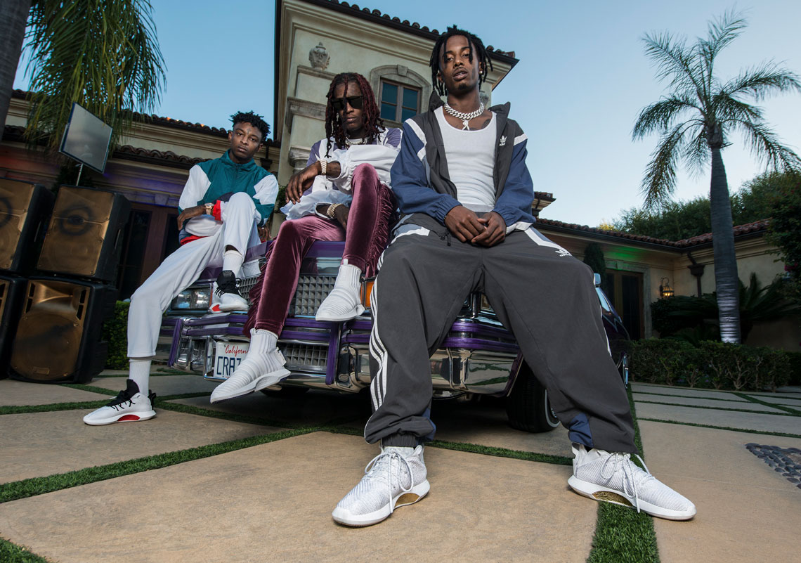 Playboy Carti, 21 Savage, And Young Thug Introduce Five adidas Originals Crazy Sneakers