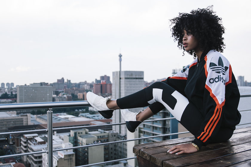Lulama for Adidas SS16 Campaign, courtesy of Marie Claire South Africa