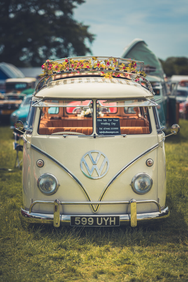 One of the many VW Campers at the festival - This beauty belongs to Colin's Campers and can be hire for your wedding - 07446 333 999 for enquiries.