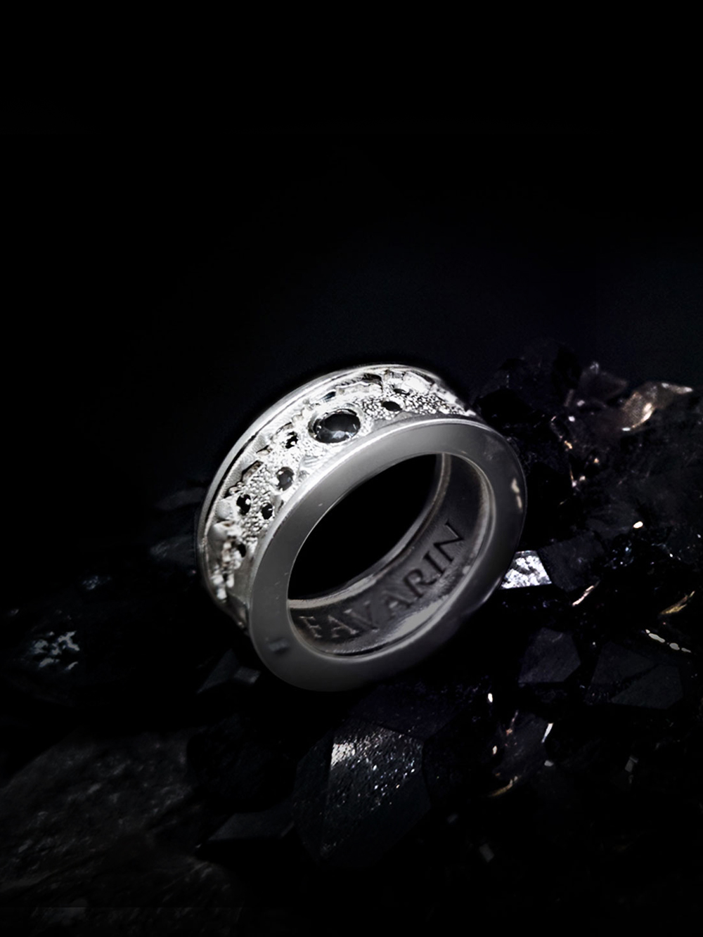 The inner secret n°3 - White Gold 18K & Black Diamonds 0,49 ct