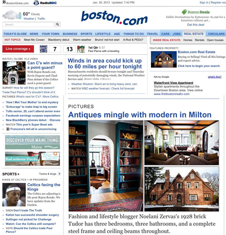Boston.com, January 2013