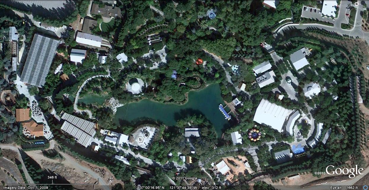 Satellite Image of Gilroy Gardens