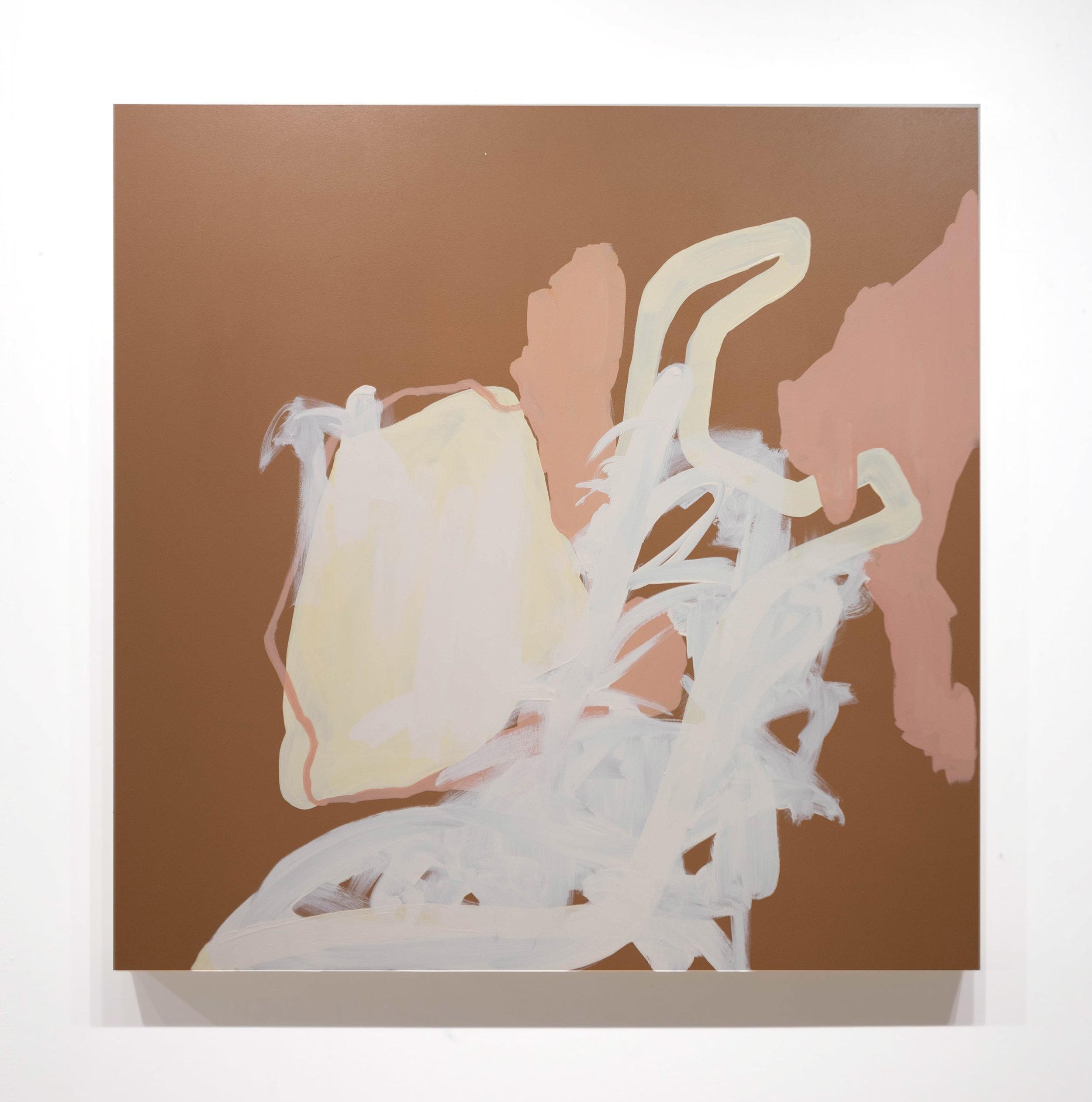 "Tell Me You Need Me,  2019. acrylic on panel, 36 x 36"" (91.44 x 91.44 cm)."