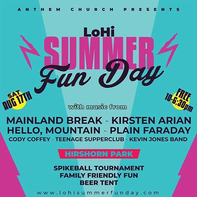 Surprise! One more show this week for @lohisummerfunday Saturday at Hirshorn Park. We play at 3:30. Come enjoy the sun and challenge us to spike ball.  #denver #denvermusic #coloradomusic #denvermusicscene #hellomountain #indierock #livemusic #rock #alternativerock #independentartist #indiemusic #denver #colorado #coloradoband #music #artist #singersofinstagram #rockmusic #musicfestival #music #summer #fun #day #lohisummerfunday