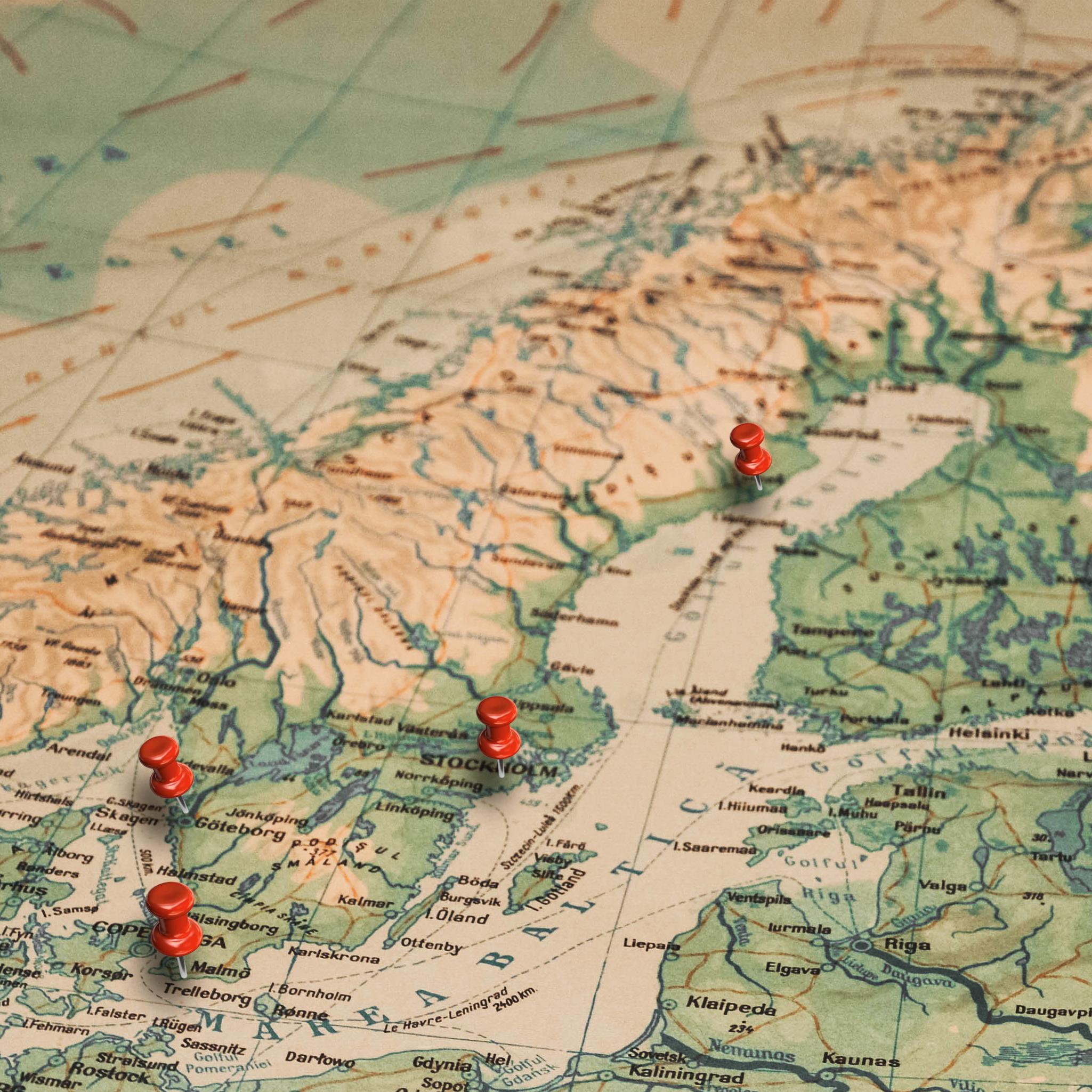 Umeå, Stockholm, Göteborg, Malmö, Skellefteå, Östersund, Örnsköldsvik, Uppsala, Jönköping and Varberg.