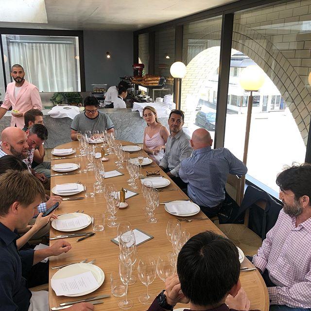 Wonderful people, fantastic #food and some delicious #wine. @hellenika thank you so much for having us!! #tasmanianwine #singlevineyard #pinotnoir #brisbaneeats