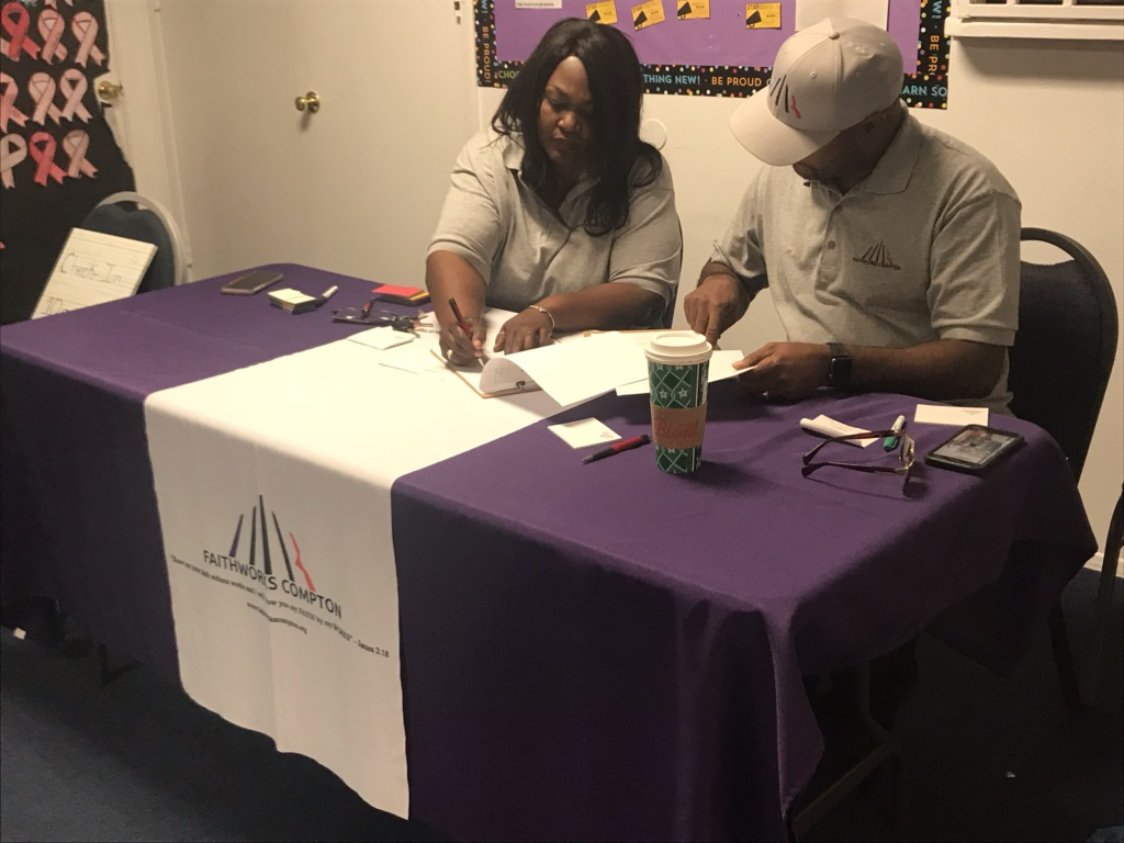 FaithWorks Board Members working Expungement Event held at FIMBC