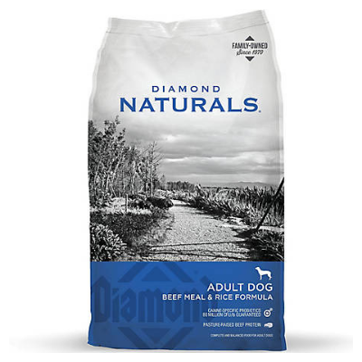 Athens Seed Diamond Naturals Adult Dog Food Beef & Rice.png