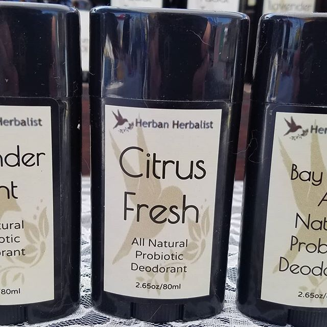 Natural deodorant can be hard to find. Every body is different. Our new formula is chemical-free and also baking soda-free. If you're still trying to find the perfect blend for your body, give ours a try! #naturaldeodorant #allnaturaldoedorant #herbanherbalist #probioticdeodorant #waukeshafarmersmarket