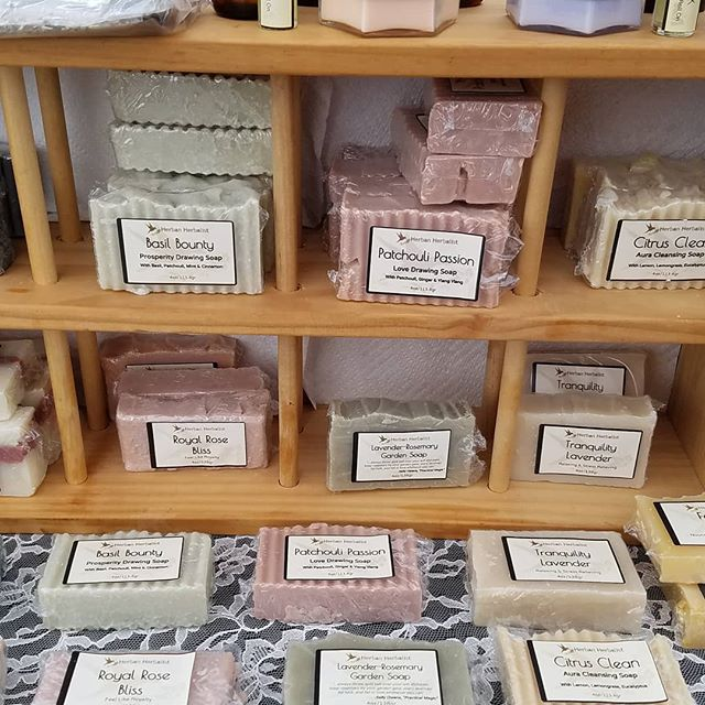 My mom used this for jewelry. I think it makes a fantastic display for soap. Most importantly, even though she is no longer with us, a part of my biggest entrepreneurial cheerleader comes with me to the farmers market each week. #herbanherbalist #naturalsoap #handmadesoap #handmadesoaps