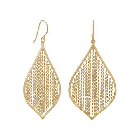 Pebble and Rose 14K Gold Fringe Earrings